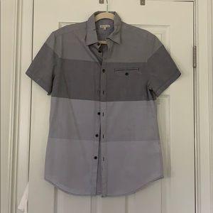Men's Calvin Klein button down- grey tones